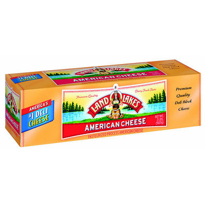 Land O'lakes American Cheese Pesteurized Process American Cheese