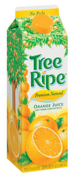 Tree Ripe Premium Natural Orange Juice 32 Oz Carton Not from Concentrate