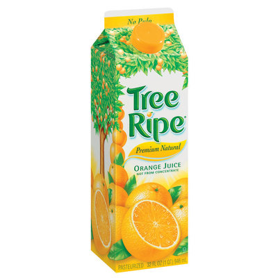 Tree Ripe Premium Natural Orange Juice 32 Oz Carton Not from Concentrate