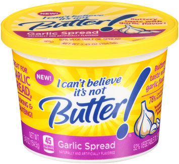 I Can't Believe It's Not Butter!® Garlic Spread 5.45 oz. Tub