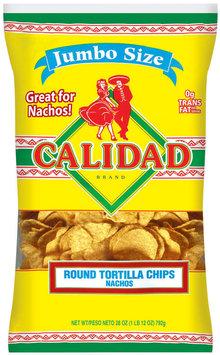 Calidad Round Nachos Tortilla Chips 28 Oz Bag