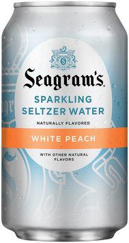 Seagram's White Peach Sparkling Seltzer Water 12 oz Can