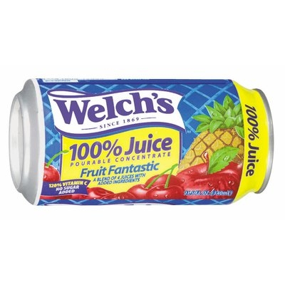 Welch's Juices Fruit Fantastic, Modified 6/2/07 100% Juice 11.5 Oz Can
