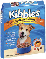 Kibbles & Nuggets & Nibbles Beef & Chicken Dog Food 17.6 Lb Bag