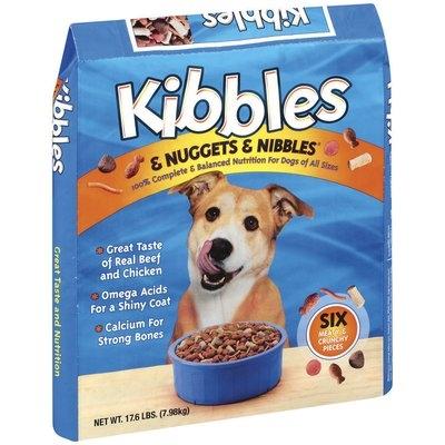 Kibbles & Nuggets & Nibbles Beef & Chicken Dog Food 17.6 Lb Bag