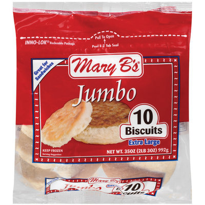 Mary B's Extra Large Jumbo Biscuits 10 Ct Bag