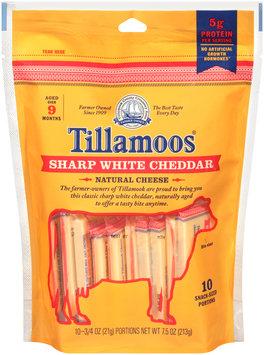 Tillamoos® Snack-Sized Sharp White Cheddar Cheese 10 ct Bag