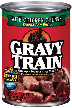 Gravy Train Chunks in Gravy with Chicken Chunks Wet Dog Food, 13.2-Ounce Can