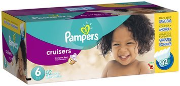 Pampers Cruisers Super Economy Pack Size 6 Diapers 92 ct Box