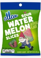 Allan Sour Watermelon Slices Gummy Candy 5 oz. Bag