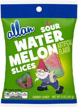 allan sour watermelon slices gummy candy