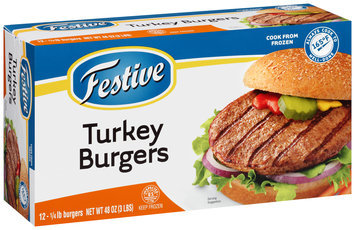 Festive Turkey Burgers 12–48 oz. Box