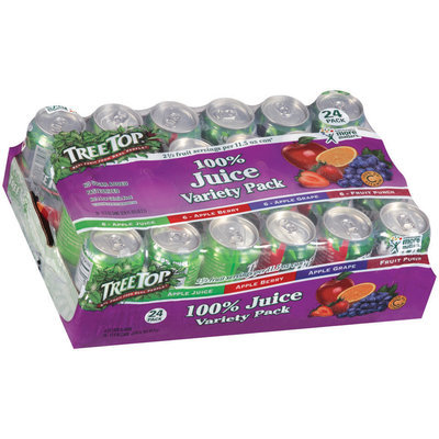 Tree Top Variety Pack 11.5 Oz 100% Juice 24 Ct Cans