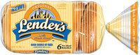 Lender's Frozen Original 100% Whole Wheat 6 Ct Bagels 12 Oz Bag