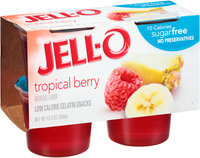 JELL-O Tropical Berry Low Calorie Gelatin Snacks
