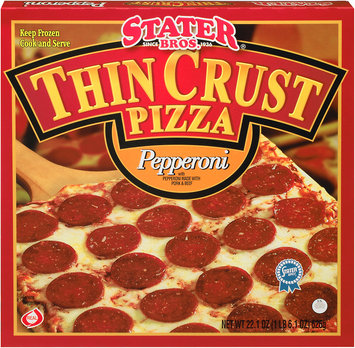 Stater Bros.® Thin Crust Pepperoni Pizza 22.1 oz. Box