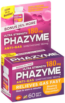 Phazyme® Ultra Strength Anti-Gas Soft Gels 60 ct Box