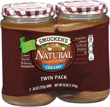 Smucker's® Natural Creamy Peanut Butter 52 oz. Pack
