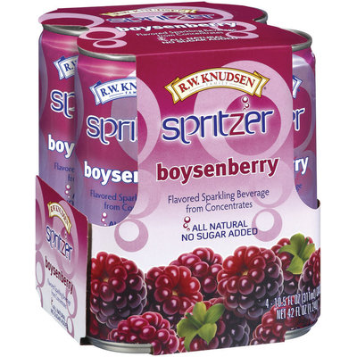 R.W. Knudsen Boysenberry Sparkling Beverage 10.5 Oz Spitzer 4 Ct Cans