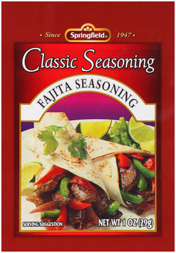 Springfield® Fajita Seasoning Classic Seasoning 1 oz Packet