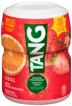 Tang Orange Strawberry Drink Mix 18 oz. Canister