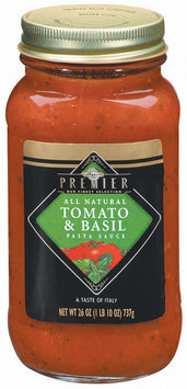 Haggen Premier Tomato & Basil All Natural Pasta Sauce 26 Oz Jar