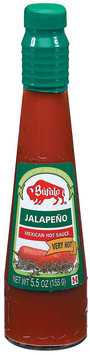 Bufalo Jalapeno Very Hot Mexican Hot Sauce 5.5 oz. Glass Bottle