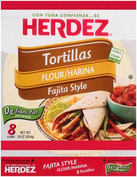 Herdez® Flour Fajita Style Tortillas 16 oz. Bag