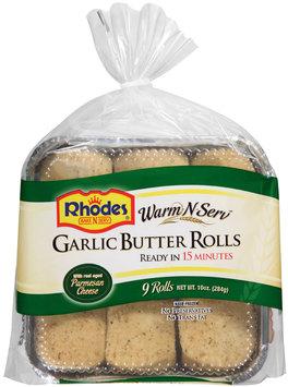 Rhodes® Warm-N-Serv™ Garlic Butter Rolls 9 ct. Tray