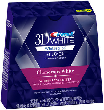 Advanced Seal Crest 3D White Luxe Whitestrips Glamorous White - Teeth Whitening Kit 14 Treatments