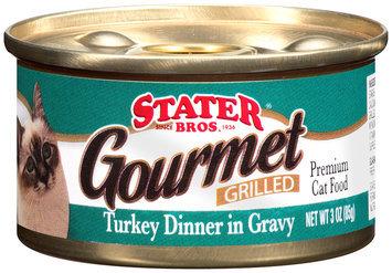 Stater Bros.® Gourmet Grilled Turkey Dinner in Gravy Premium Cat Food 3 oz. Can
