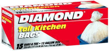 DIAMOND Tall W/Ties 13 Gal Kitchen Bags 15 CT BOX