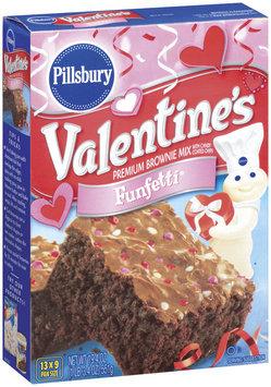 Pillsbury Valentine's Funfetti W/Candy Coated Chips Brownie Mix 19.4 Oz Box