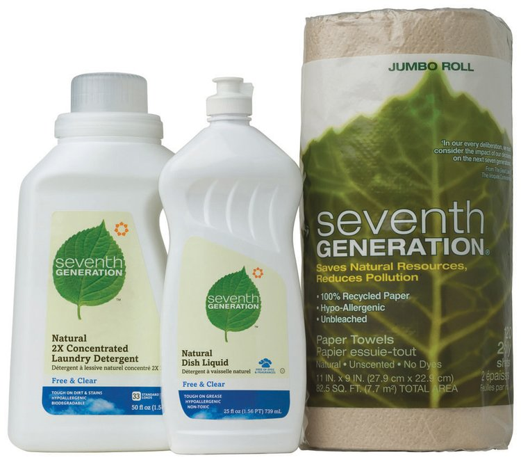 Seventh Generation Laundry Detergent, Dish Liquid, Paper Towels Household Products