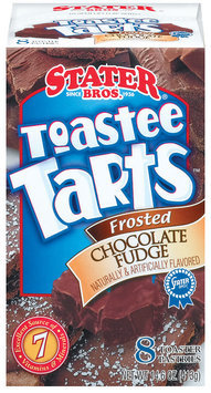Stater Bros. Toastee Tarts Frosted Chocolate Fudge 8 Ct Toaster Pastries 14.6 Oz Box