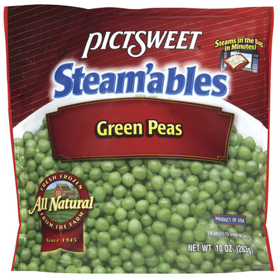 STEAM'ABLES ALL NATURAL Green Peas 10 OZ STAND UP BAG