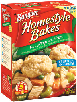 Banquet Homestyle Bakes  Dumplings & Chicken 33.2 Oz Box