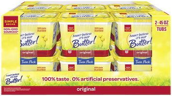 I Can't Believe It's Not Butter!® Original 45% Vegetable Oil Spread 2-45 oz. Tubs