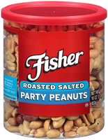 Fisher® Roasted Salted Party Peanuts 16 oz. Container