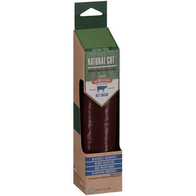 Old Wisconsin® Natural Cut™ Beef Hardwood-Smoked Summer Sausage 6 oz. Pack