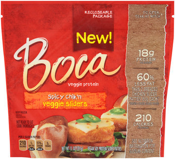Boca Spicy Chik'n Veggie Sliders 11 oz. Pouch