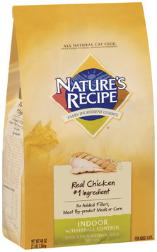 Nature's Recipe® Indoor with Hairball Control Chicken & Brown Rice Recipe Cat Food 3 lb. Bag