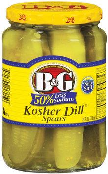 B&G Kosher Dill Spears 50% Less Sodium Pickles