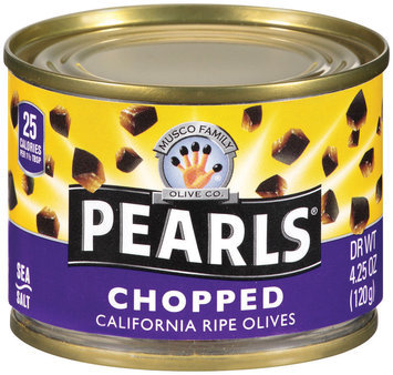 PEARLS Chopped Ripe Black Olives 4.25 OZ CAN