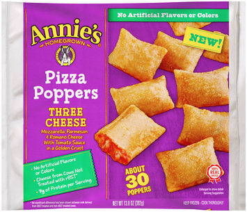 Annie's Homegrown® Three Cheese Pizza Poppers 13.8 oz. Bag