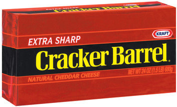 Kraft Cracker Barrel Cheddar Extra Sharp Cheese 24 Oz Brick