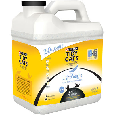Purina Tidy Cats Clumping LightWeight 4-in-1 Strength Cat Litter 6 lb. Plastic Jug