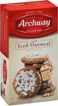 Archway® Soft Iced Oatmeal Cookies 9.25 oz. Box
