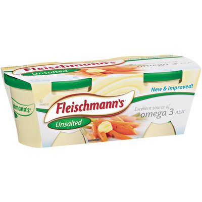 Fleischmann's Unsalted 60% Whipped 11.8 Oz Tubs Vegetable Oil Spread 2 Ct Sleeve