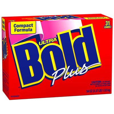 Bold Ultra Compact Formula Plus Powder Laundry Detergent 54 oz. Box